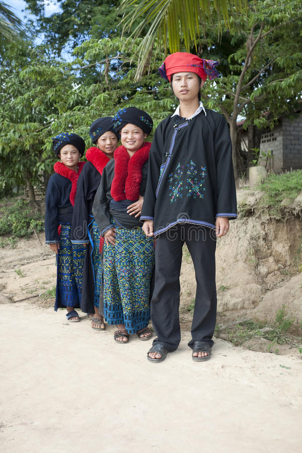 азиатские люди yao Лаоса этнической группы стоковое изображение rf