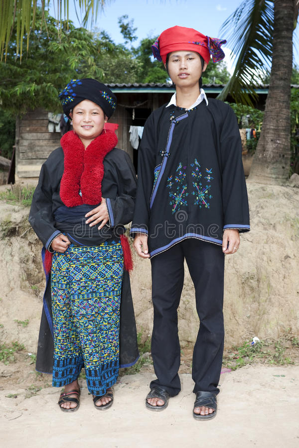 азиатские люди yao Лаоса стоковые изображения rf