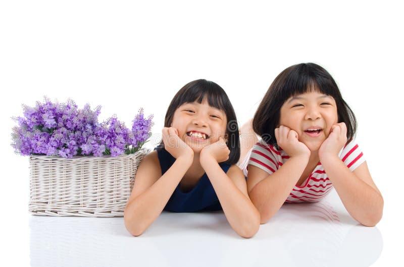 азиатские малыши стоковое изображение rf