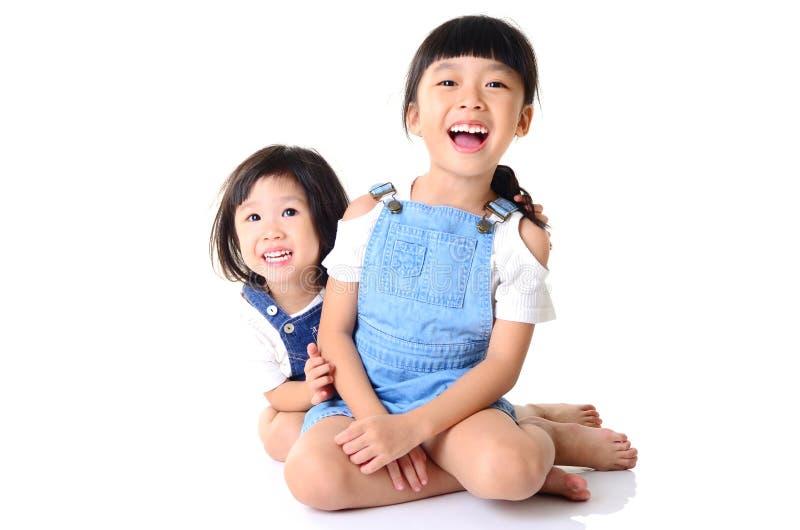 Азиатские милые и красивые маленькие девочки стоковая фотография rf