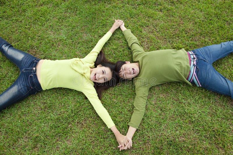 азиатские пары счастливые стоковая фотография rf