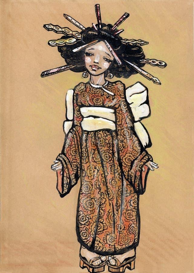 азиатские смешные детеныши девушки бесплатная иллюстрация