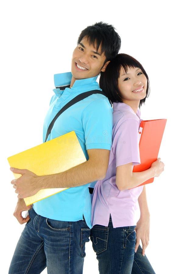 азиатские студенты молодые стоковые фото