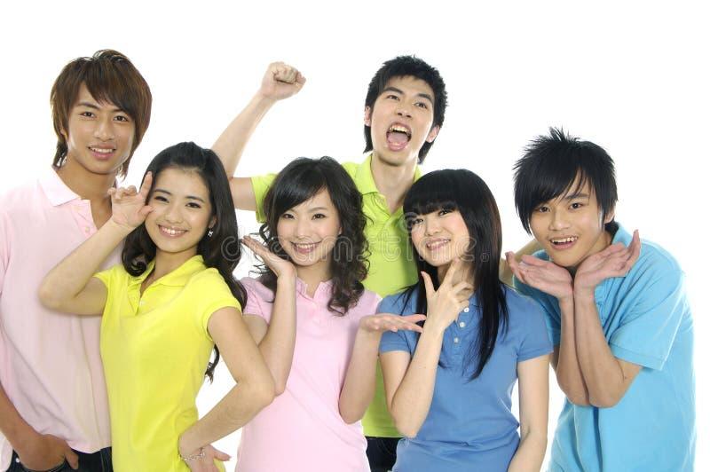 азиатские студенты молодые стоковые фотографии rf