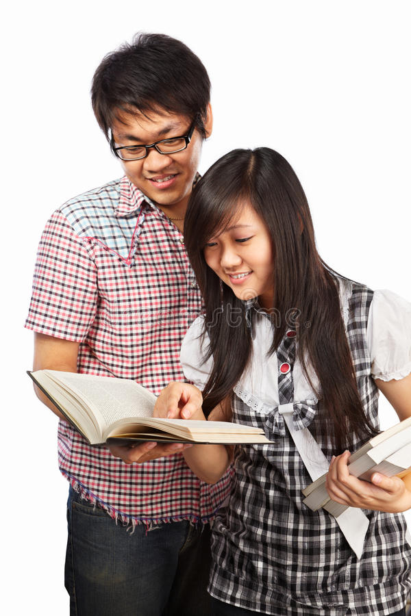 азиатские студенты стоковое фото