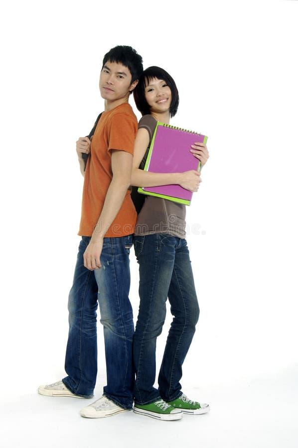 Азиатские студенты стоковые фотографии rf