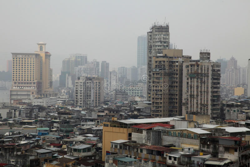 азиатские трущобы стоковое изображение rf