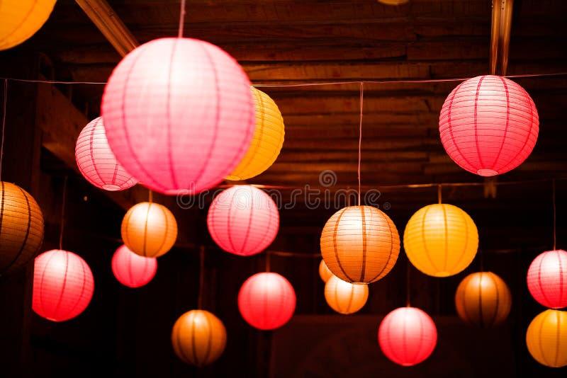 Азиатские laterns глобуса стоковые изображения rf