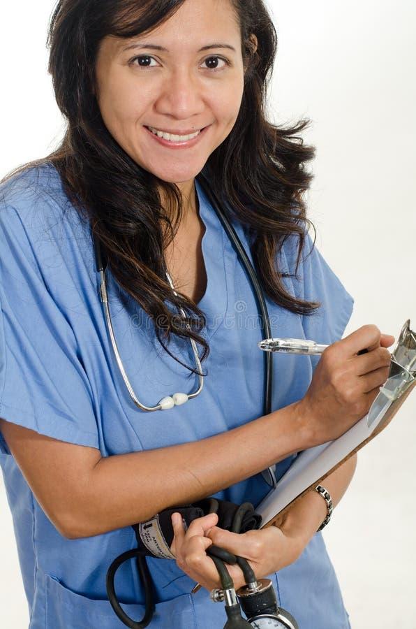 Азиатский американский работник медицинского соревнования стоковое фото rf