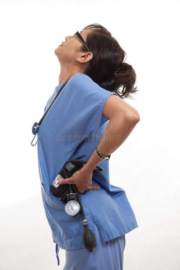 Азиатский американский работник медицинского соревнования стоковое изображение rf
