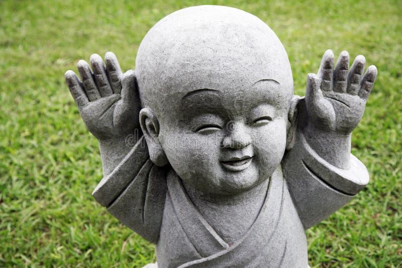азиатский буддийский милый монах стоковые фото