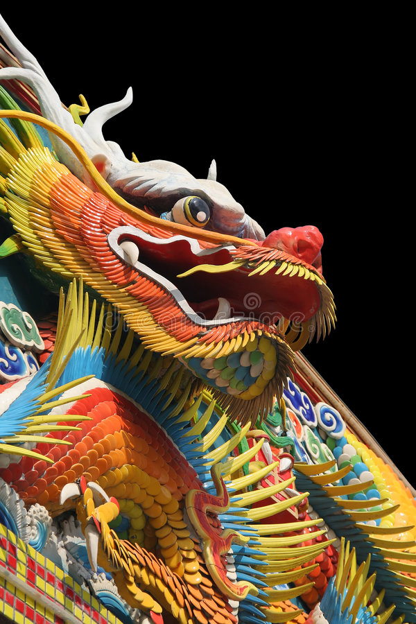 азиатский висок дракона стоковые фотографии rf
