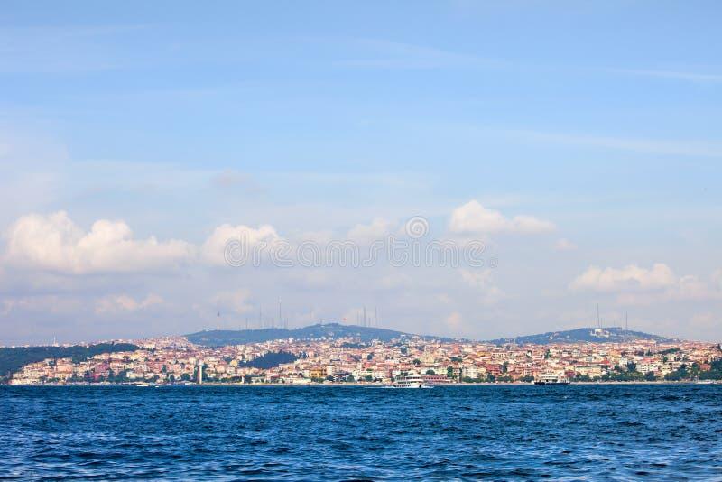азиатский горизонт istanbul бортовой стоковые изображения rf