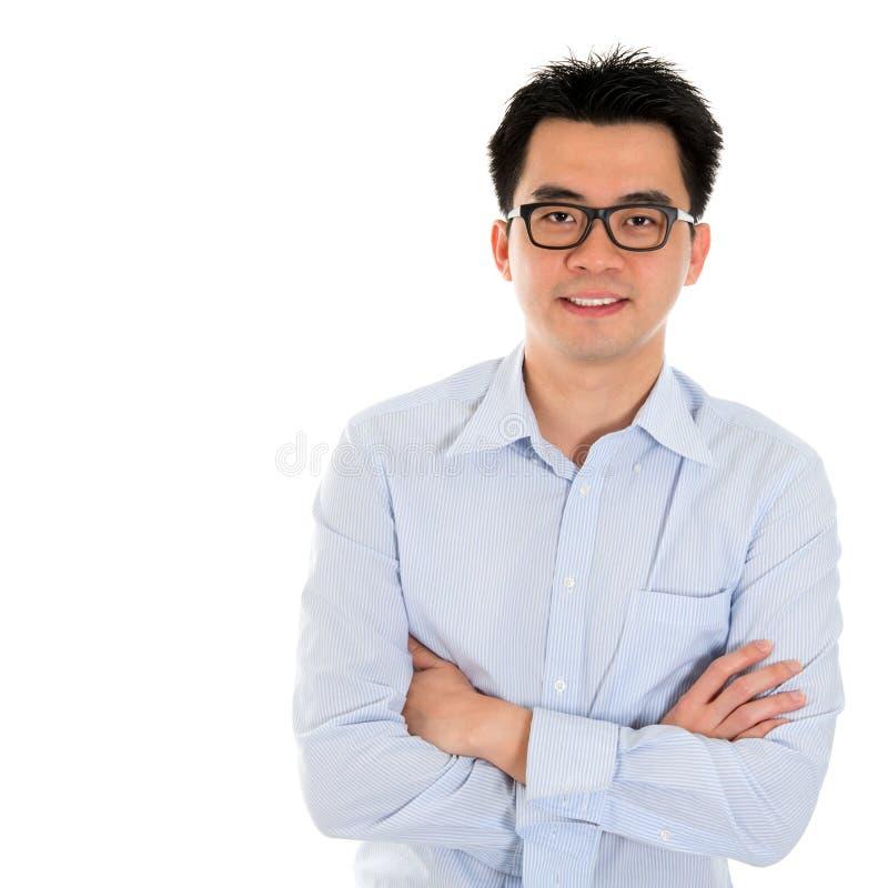 Азиатский изолированный бизнесмен стоковое фото