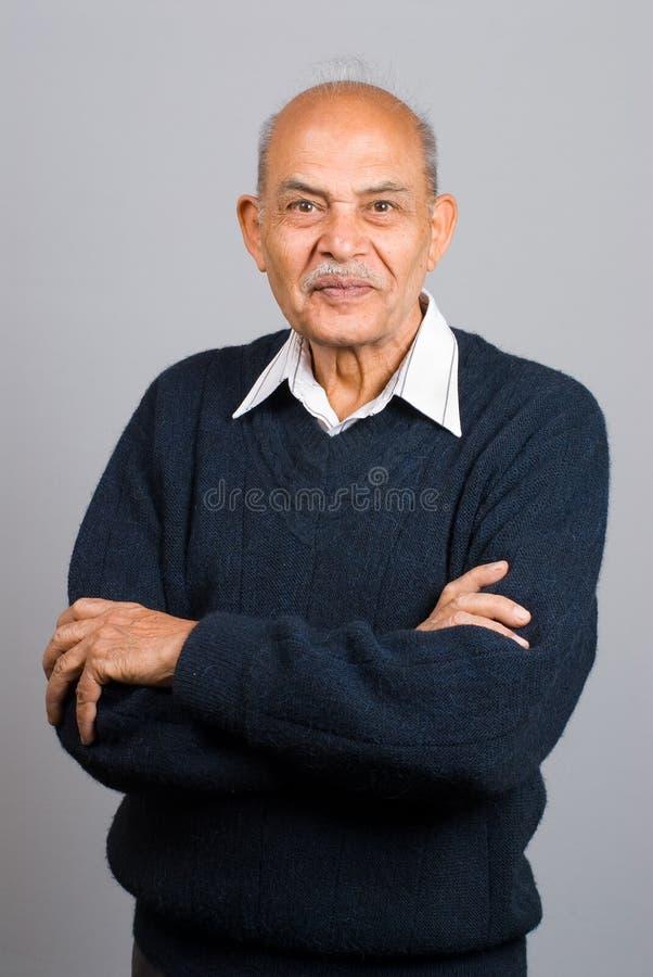 азиатский индийский старший человека стоковое изображение rf