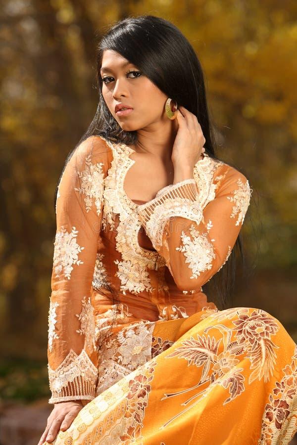 азиатский индонеец девушки стоковые фотографии rf