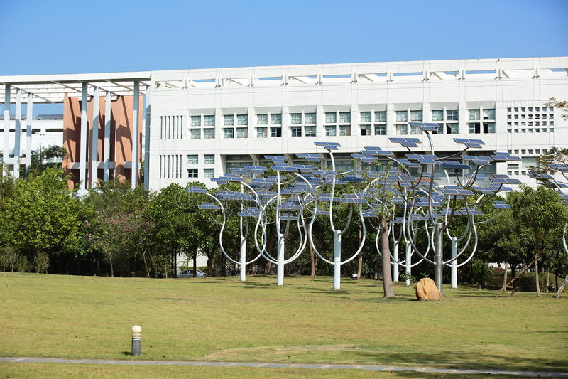 Азиатский кампус коллежа стоковые фотографии rf