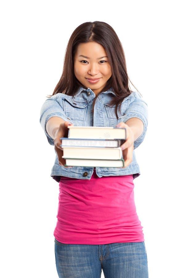 азиатский красивейший студент колледжа стоковые изображения rf