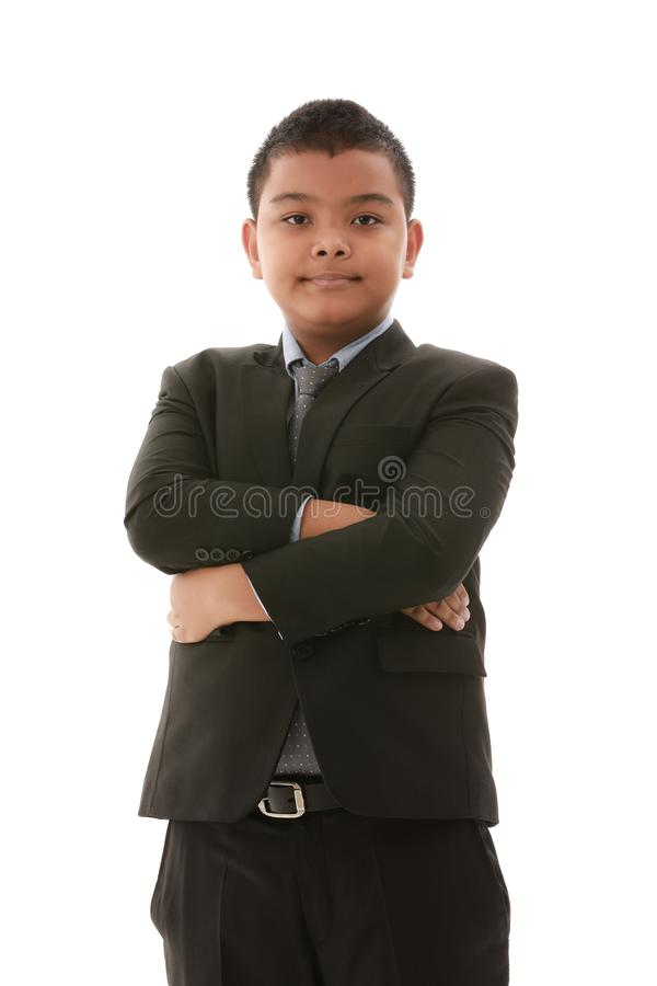Азиатский мальчик в костюме стоковое фото
