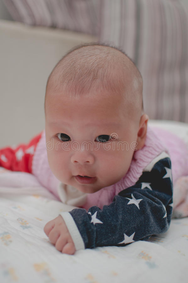 азиатский младенец стоковые фото