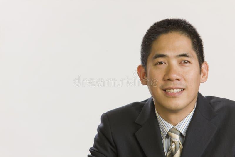 азиатский портрет бизнесмена стоковые изображения rf