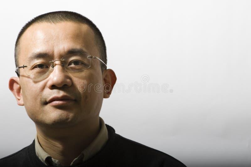 азиатский портрет человека стоковое изображение rf