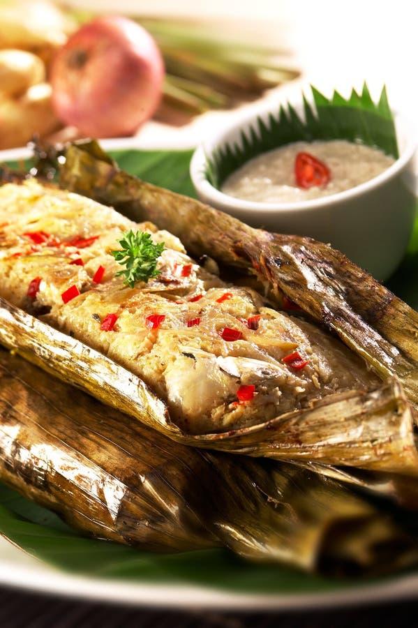 Азиатский пряный торт рыб стоковое фото rf
