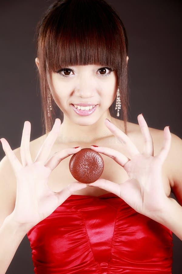 азиатский расстегай шоколада красотки стоковые изображения