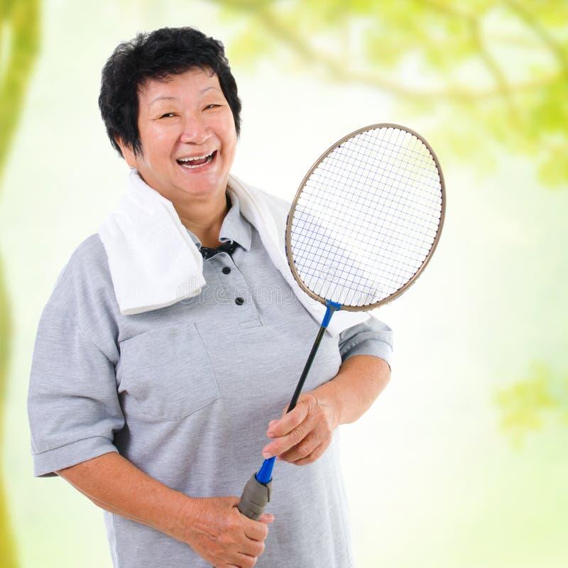 Азиатский старший спорт стоковые изображения rf