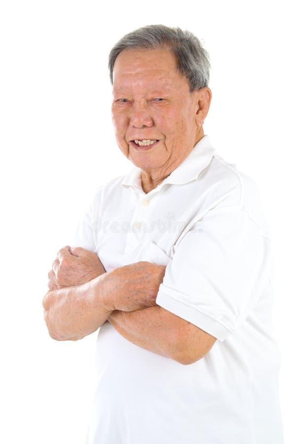 азиатский старший человека стоковое изображение