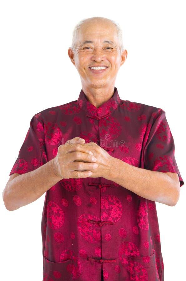 азиатский старший человека стоковое фото