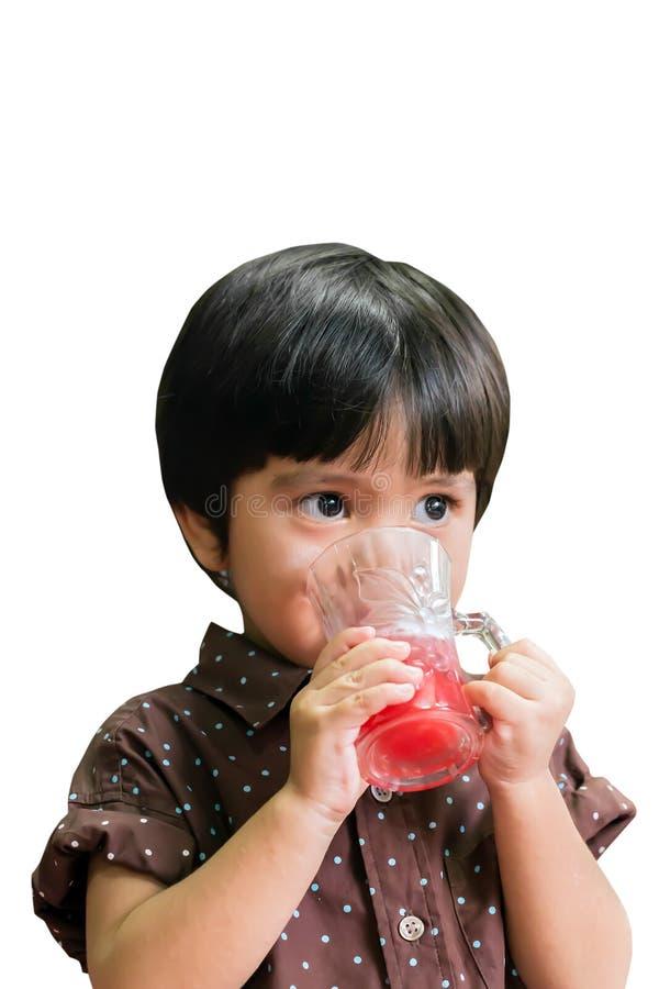 Азиатский тайский выпивать мальчика стоковые фотографии rf