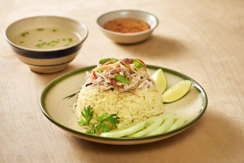 азиатский тип риса hainan крупного плана цыпленка Рис цыпленка в Hoi, Вьетнаме Hoi, как Faifo Hoian в провинции ` s Quang Nam Вье стоковое фото