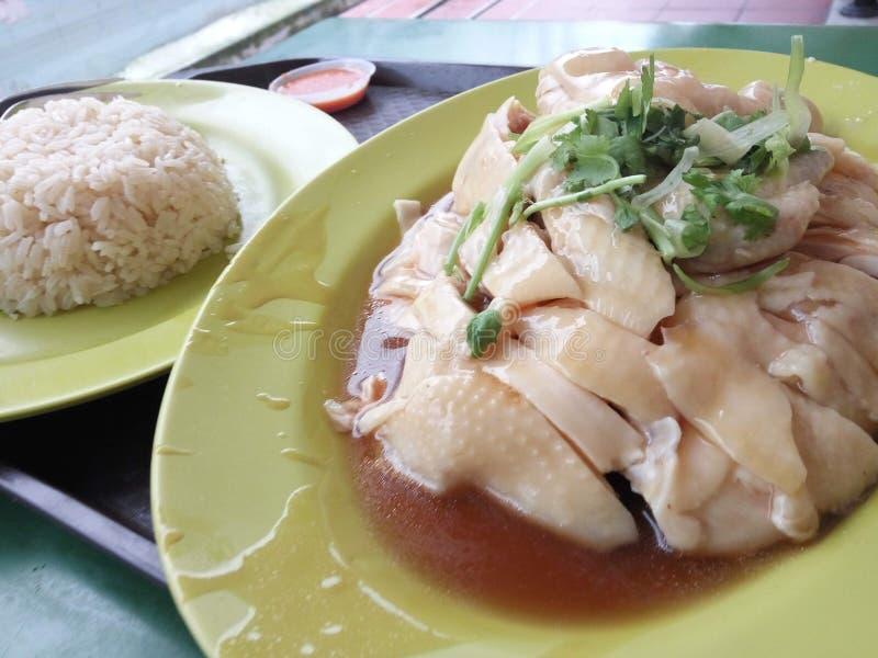 азиатский тип риса hainan крупного плана цыпленка стоковая фотография