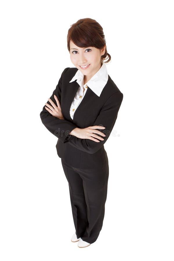 азиатский уверенно офис повелительницы стоковые изображения