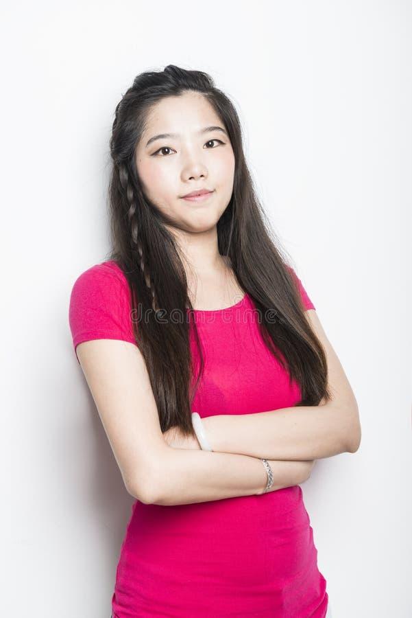 азиатский усмехаться девушки стоковая фотография