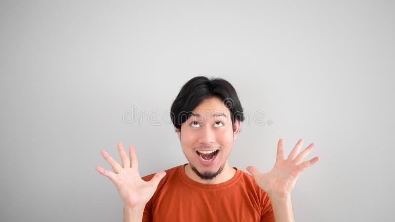 азиатский удивленный человек стоковое фото rf