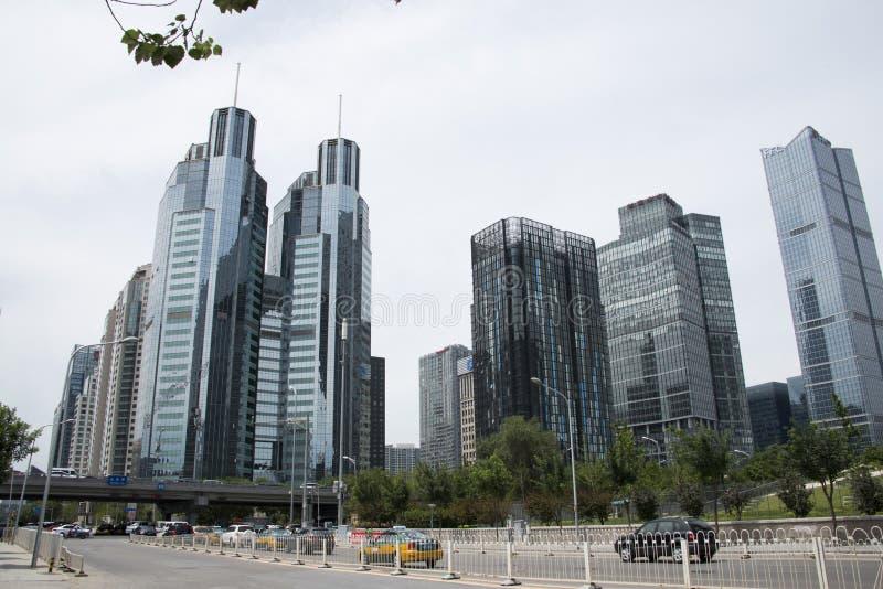 Азиат Китай, Пекин, финансовый район CBD центральный, современная архитектура, стоковые изображения rf