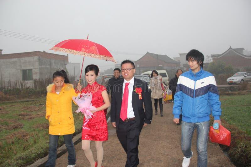 Азия, Китай, сельская свадьба стоковое фото rf