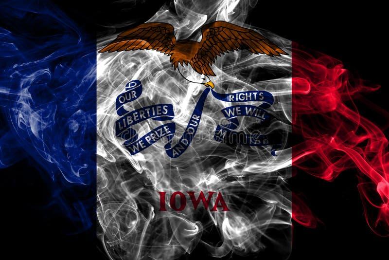 Айова заявляет флаг дыма, Соединенные Штаты Америки иллюстрация вектора