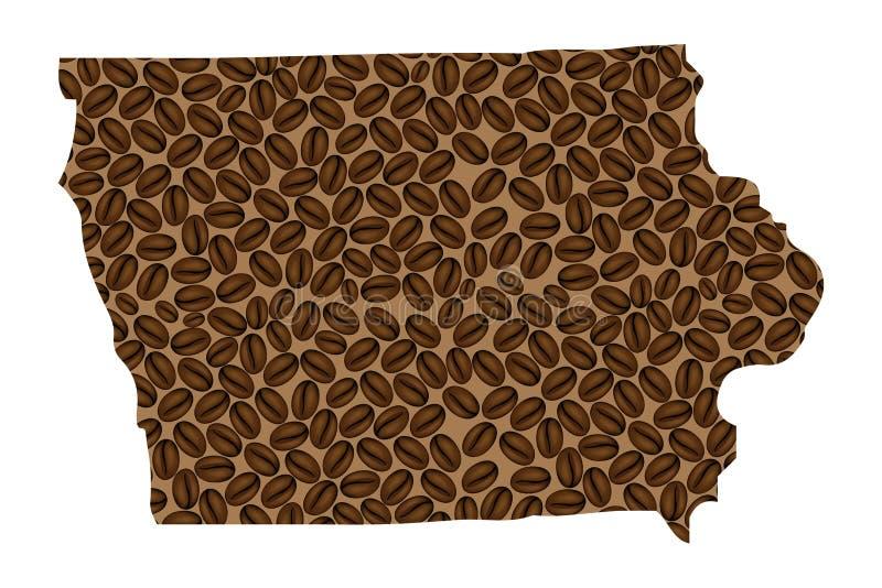 Айова - карта кофейного зерна бесплатная иллюстрация