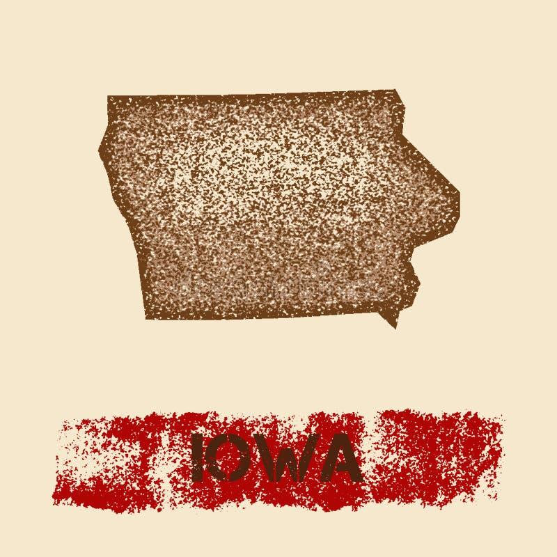 Айова огорчила карту иллюстрация штока