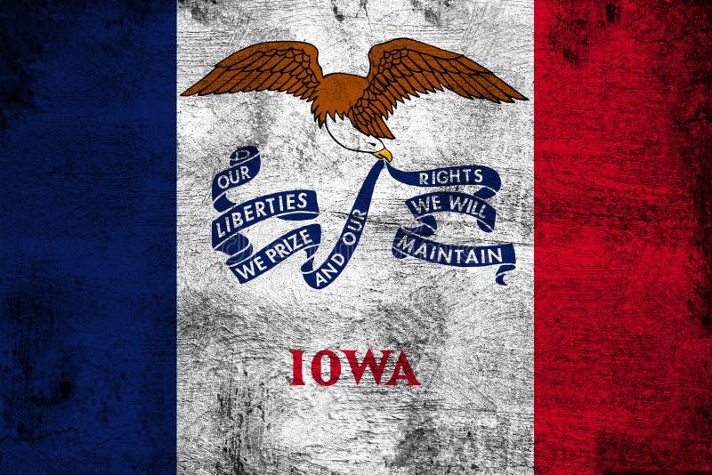 Айова ржавая и иллюстрация флага grunge бесплатная иллюстрация