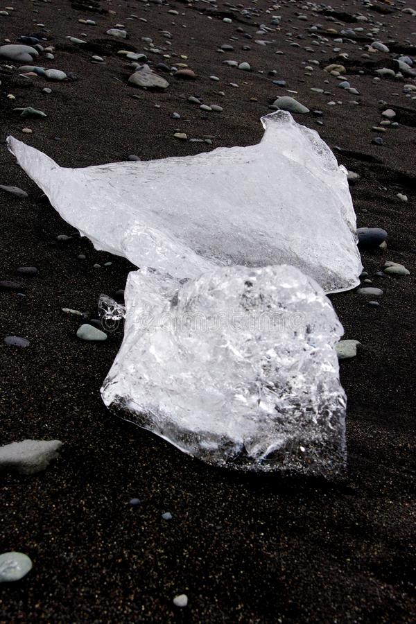 Айсберги в лагуне n ³ rlà ¡ Jökulsà стоковое изображение rf