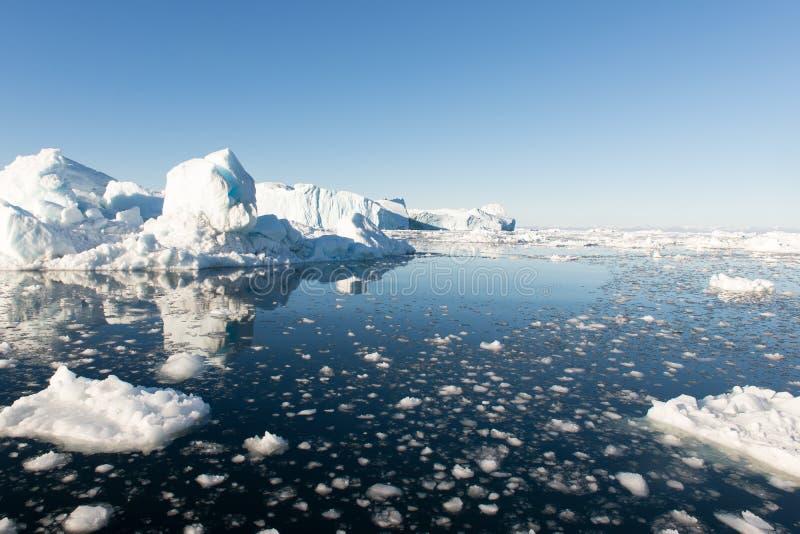 Айсберги в Гренландии стоковое фото