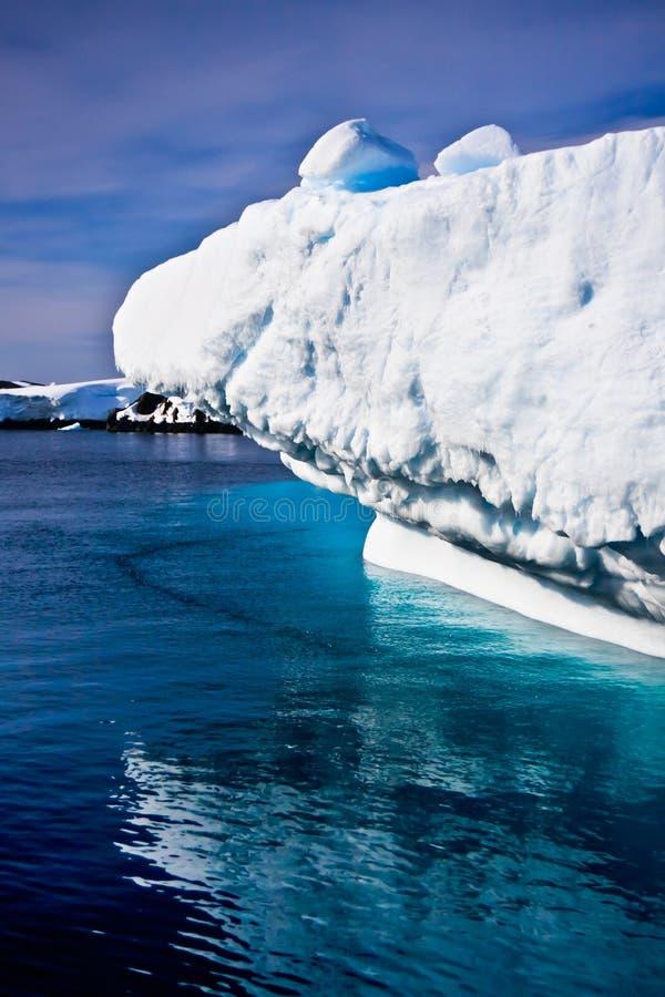 айсберг Антарктики огромный стоковые фотографии rf