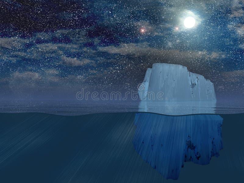 Айсберг на ноче бесплатная иллюстрация