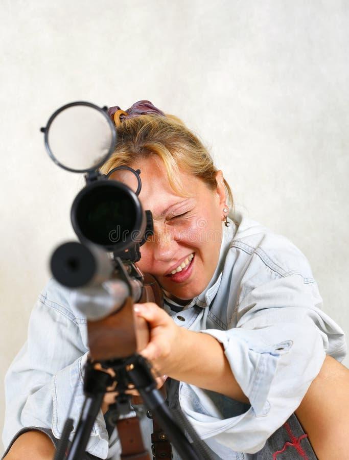 дайте полный газ женщине стоковая фотография rf