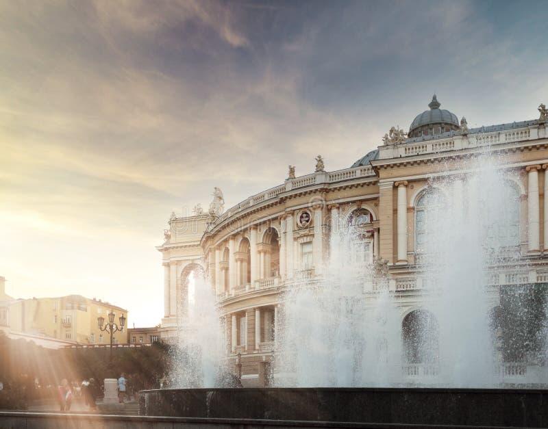Академический театр Одессы национальный оперы и балета в Украине стоковая фотография