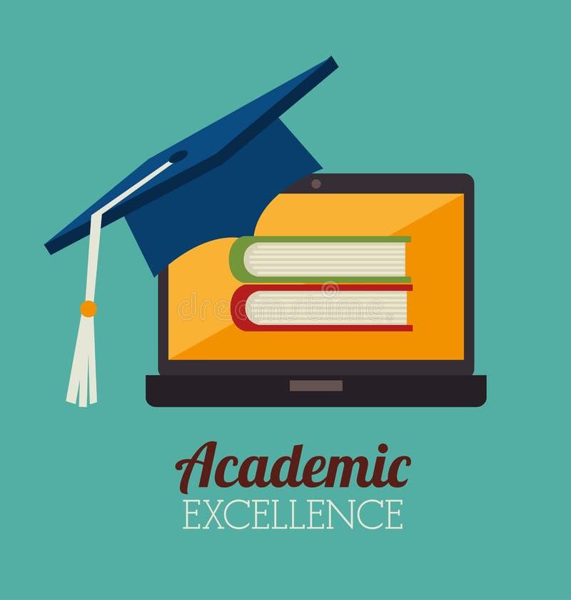 Академичный дизайн образования иллюстрация штока
